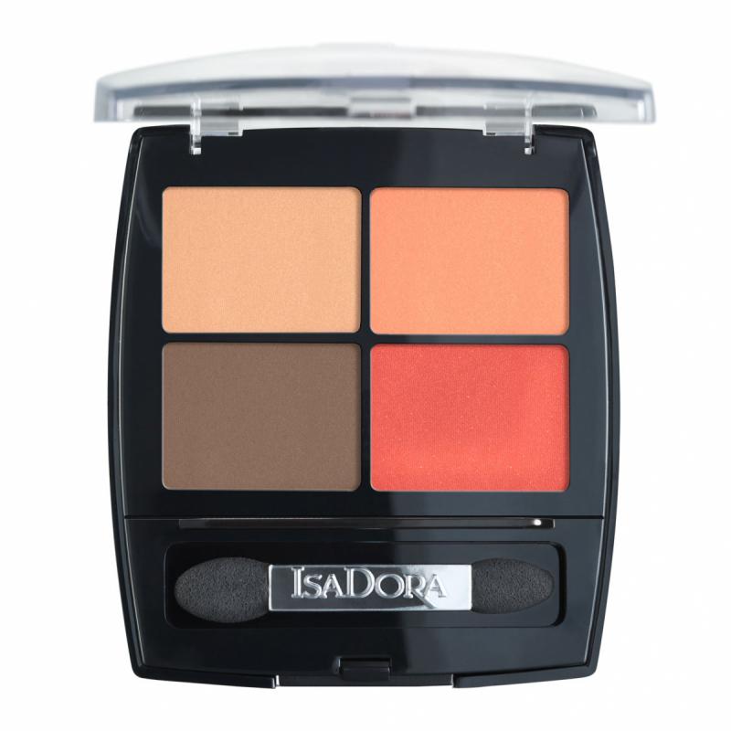 IsaDora Eye Shadow Quartet Vibrant Tangerine