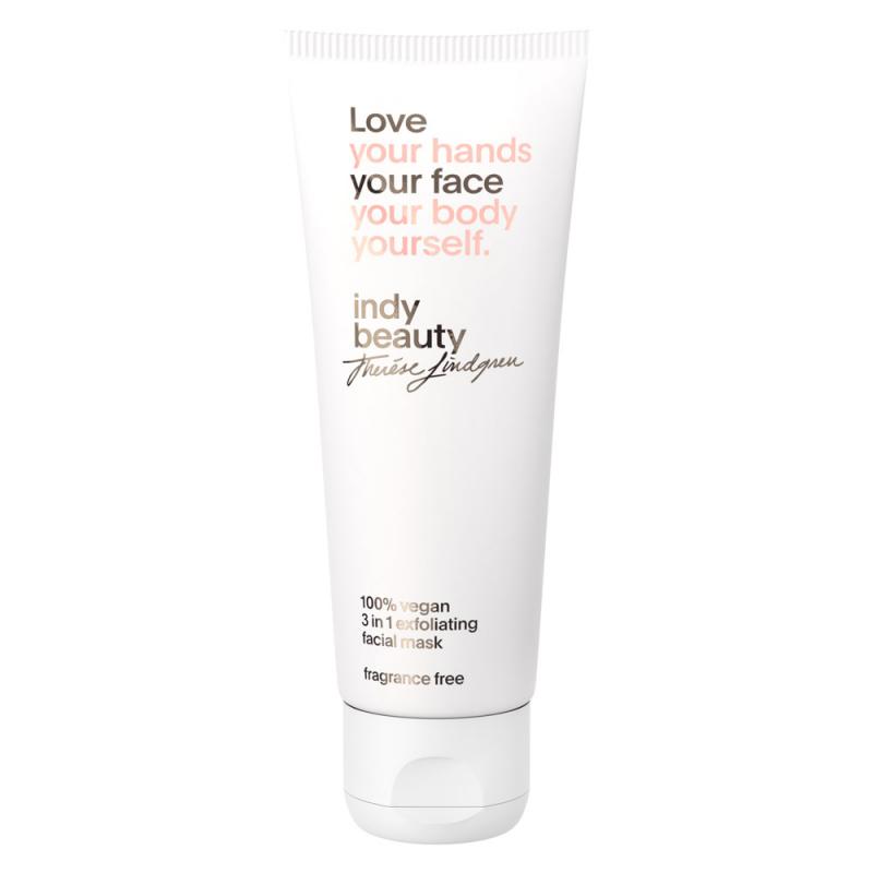 Indy Beauty 3 in 1 Exfoliating Facial Mask (75ml) i gruppen Hudvård / Ansiktsmask / Gelmask hos Bangerhead (B058960)
