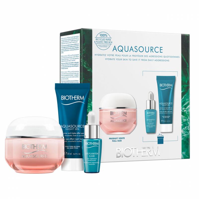 Biotherm Aquasource Cream Dry Skin Set (50ml) i gruppen Hudvård / Presenter & hudvårdsset / Gift sets hos Bangerhead (B059528)