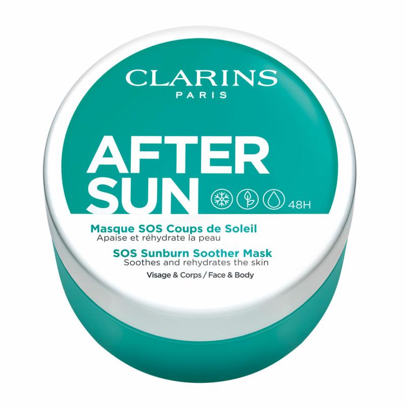 Clarins After Sun Sos Sunburn Soother Mask (100ml) ryhmässä Vartalonhoito  / Aurinkotuotteet vartalolle / After sun -tuotteet vartalolle at Bangerhead.fi (B059541)