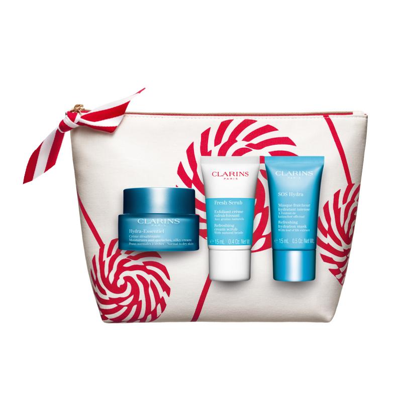 Clarins Hydra-Essentiel Holiday Collection i gruppen Hudvård / Presenter & hudvårdsset / Gift sets hos Bangerhead (B063507)