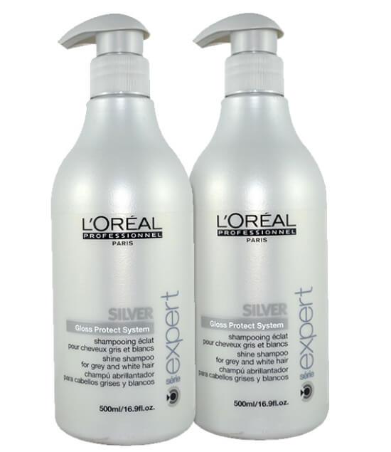 2x L'Oréal Silver Shampoo (500ml) i gruppen Hårpleie / Shampoo & balsam / Shampoo hos Bangerhead.no (SA000266)