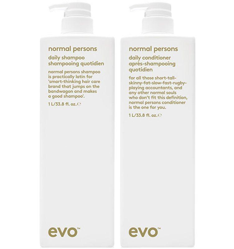 Evo Normal Persons Duo (1000+1000ml) ryhmässä Hiustenhoito / Vegaaninen hiustenhoito at Bangerhead.fi (SB042982)