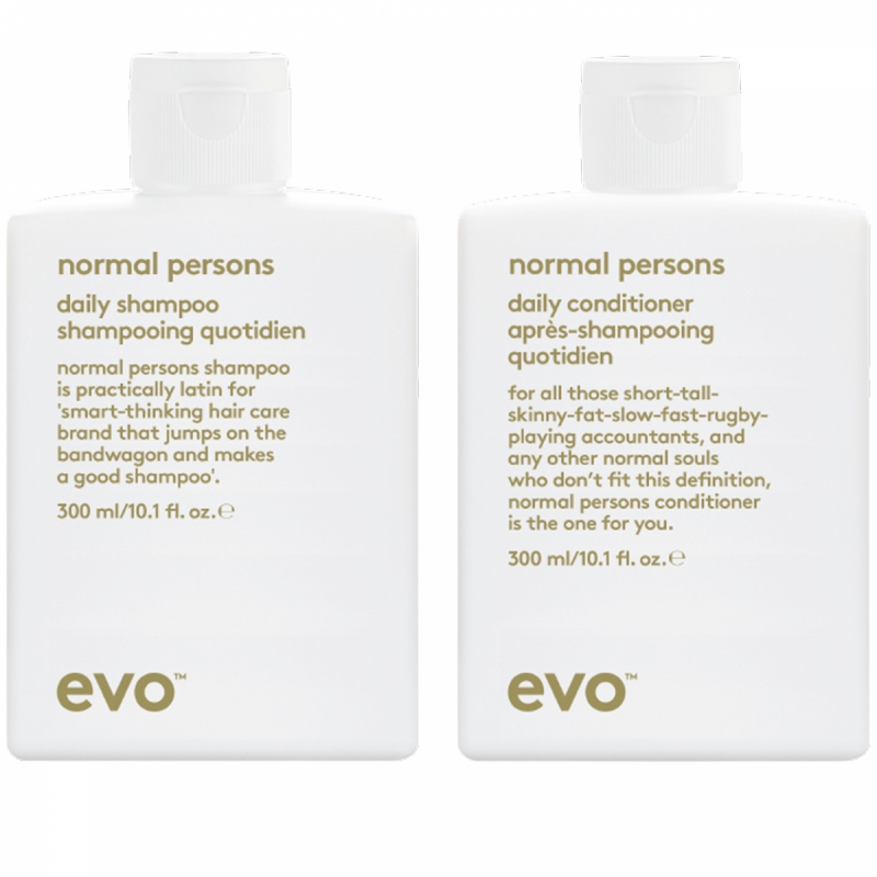 Evo Normal Persons Duo (300+300ml) i gruppen Editor's choice / Schampo & balsam från Evo hos Bangerhead (SET00115)