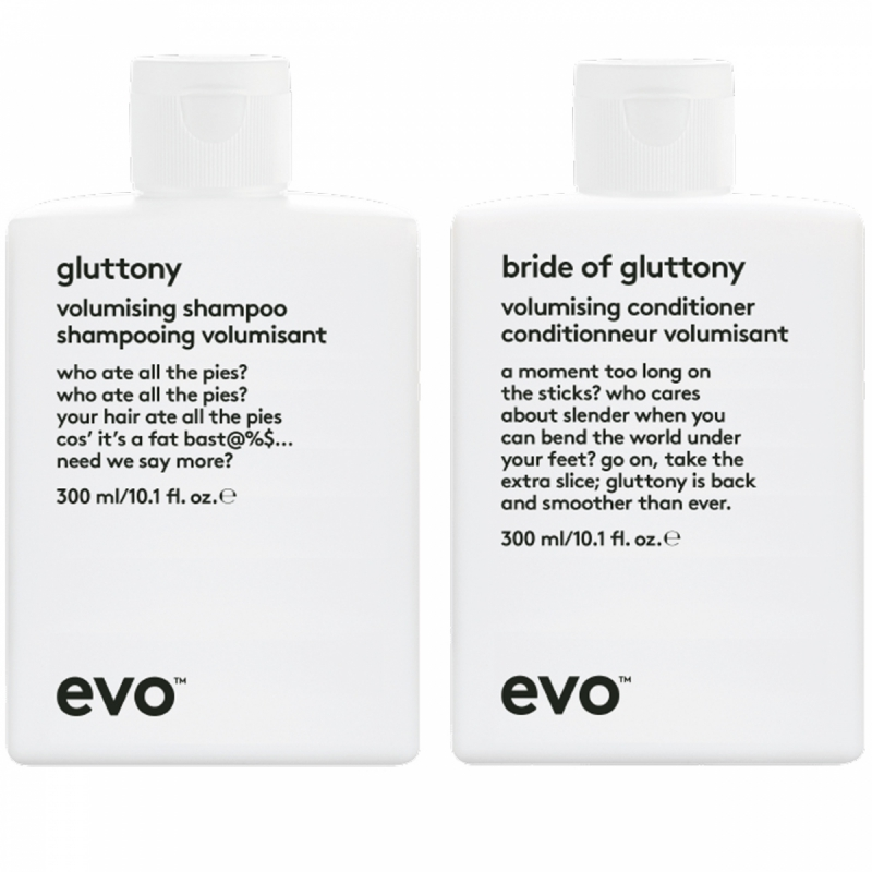 Evo Gluttony Duo (300+300ml) i gruppen Editor's choice / Schampo & balsam från Evo hos Bangerhead (SET00117)