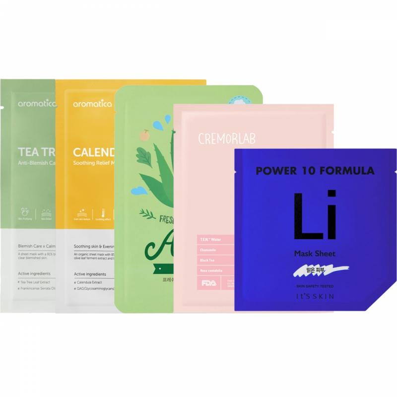 Sheet Mask Calming Kit ryhmässä Ihonhoito / Lahjapakkaukset & setit / Tarjouspaketit  at Bangerhead.fi (SET00120)