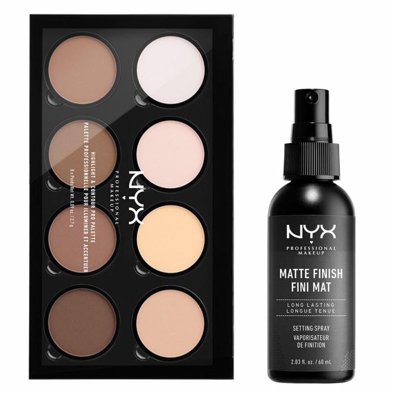 NYX Professional Makeup Highlight And Contour Pro Palette Matte Set i gruppen Kampanjer / Paketerbjudanden hos Bangerhead (SET00147)
