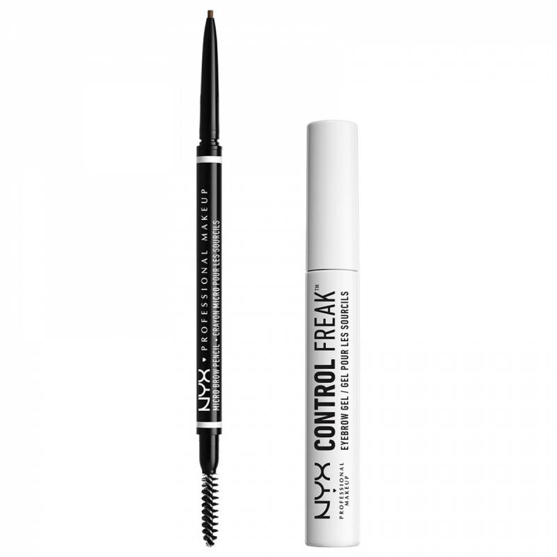 NYX Professional Makeup Micro Brow Ash Brown Set i gruppen Kampanjer / Paketerbjudanden hos Bangerhead (SET00149)