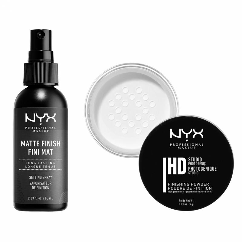 NYX Professional Makeup Studio Finishing Powder Translucent Matte Set ryhmässä Kampanjat / Tarjouspaketit at Bangerhead.fi (SET00150)