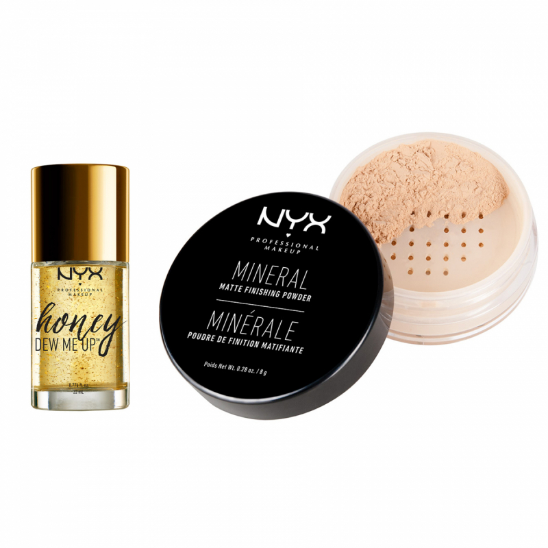 NYX Professional Makeup Honey Dew Me Up Primer and Mineral Powder Set i gruppen Kampanjer / Paketerbjudanden hos Bangerhead (SET00152)