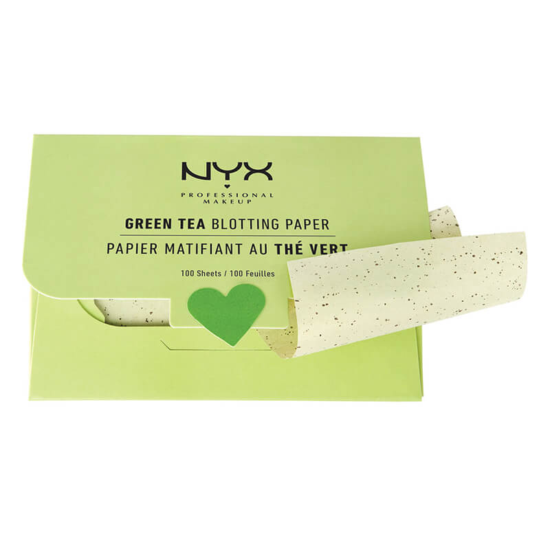 NYX Green Tea Blotting Paper i gruppen Makeup / Bas / Blotting papers hos Bangerhead (bprgt)