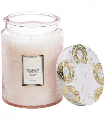 Voluspa Boxed Scalloped Candlepot Panjore Lychee i gruppen Parfym & doft / Doftljus & doftpinnar / Doftljus hos Bangerhead (B023922)