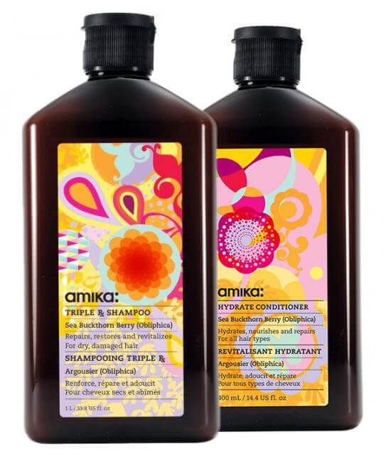 amika Triple Rx Shampoo + Hydrate Conditioner i gruppen Hårvård / Schampo & balsam / Balsam hos Bangerhead (s2020002)
