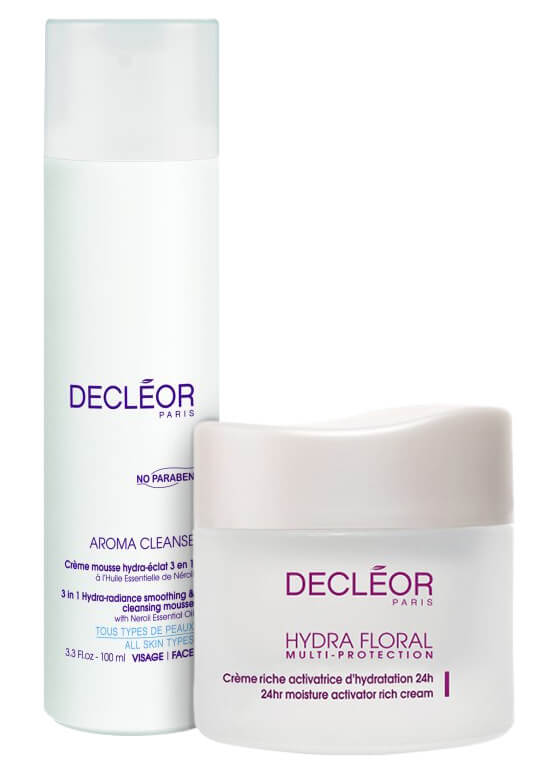 Decleor Cleansing Mousse + Multiprotection Rich Cream i gruppen Hudpleie / Fuktighetskrem / 24h-krem hos Bangerhead.no (s219001)