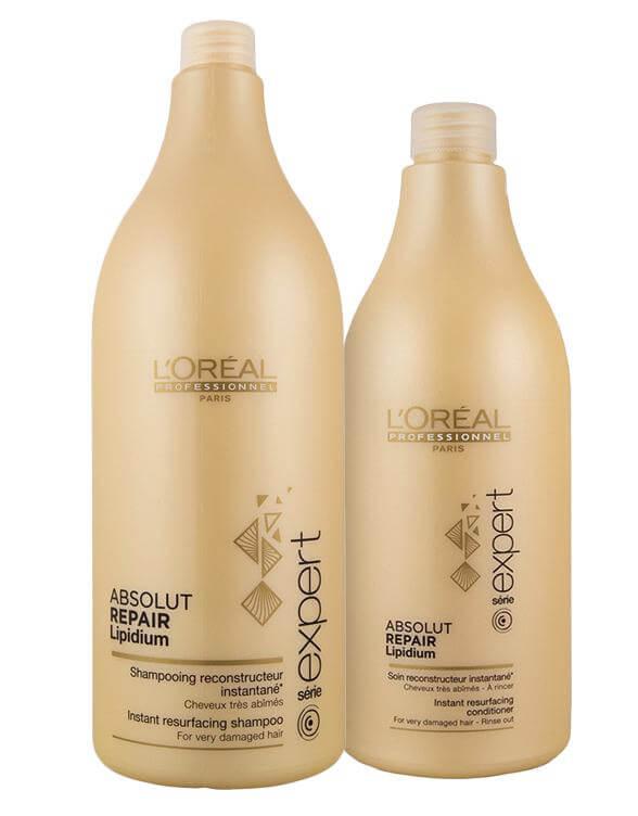 Loreal Absolut Repair Duo (1500+750ml) i gruppen Hårpleie / Shampoo & balsam / Balsam hos Bangerhead.no (sB007903)