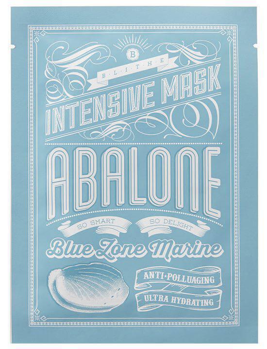 Blithe Blue Zone Marine Intensive Abalone Mask (10pcs) ryhmässä Ihonhoito / Kasvonaamiot / Kangasnaamiot at Bangerhead.fi (sB023301)