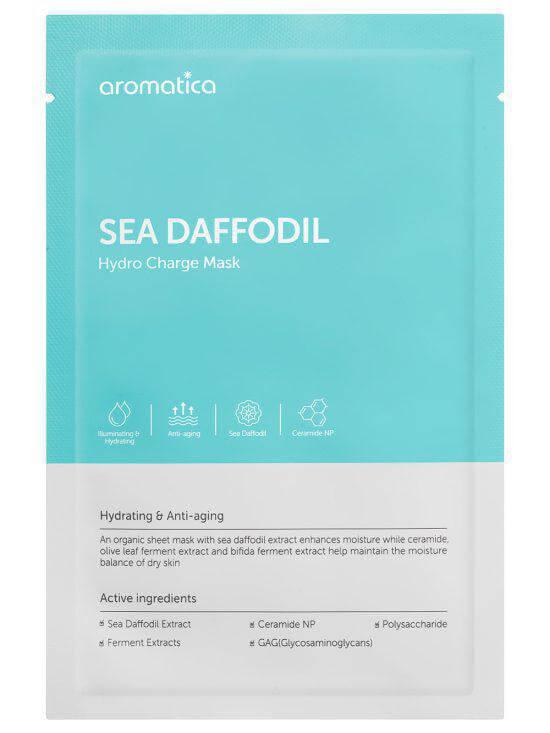 Aromatica Sea Daffodil Hydro Charge Mask (10pcs) ryhmässä Ihonhoito / Lahjapakkaukset & setit / Tarjouspaketit  at Bangerhead.fi (sB025986)
