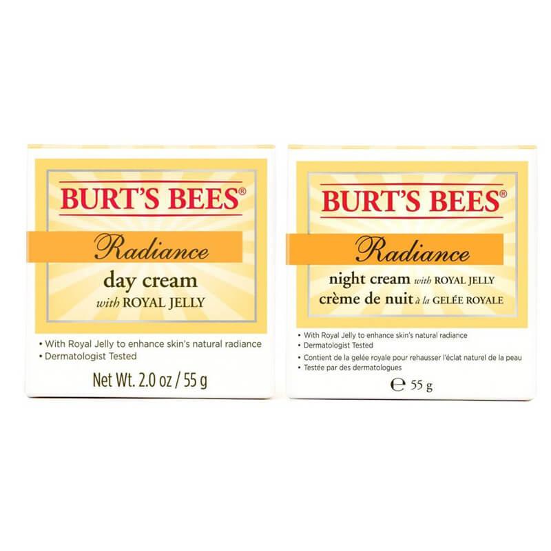 Burt's Bees Radiance Duo i gruppen Hudvård / Ansiktsåterfuktning / Nattkräm hos Bangerhead (sBB18600)